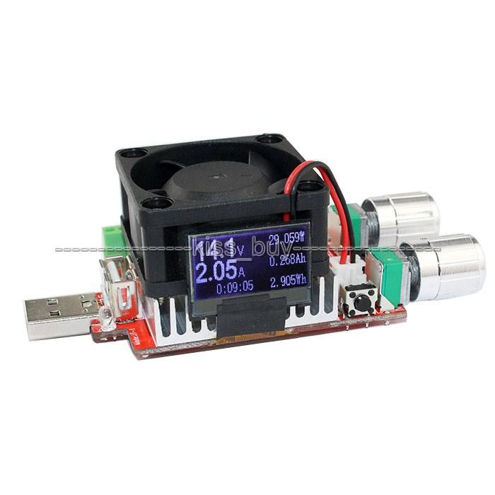 Freeshipping 35w 4A oled display usb electronic load adjustable constant current battery capacity tester