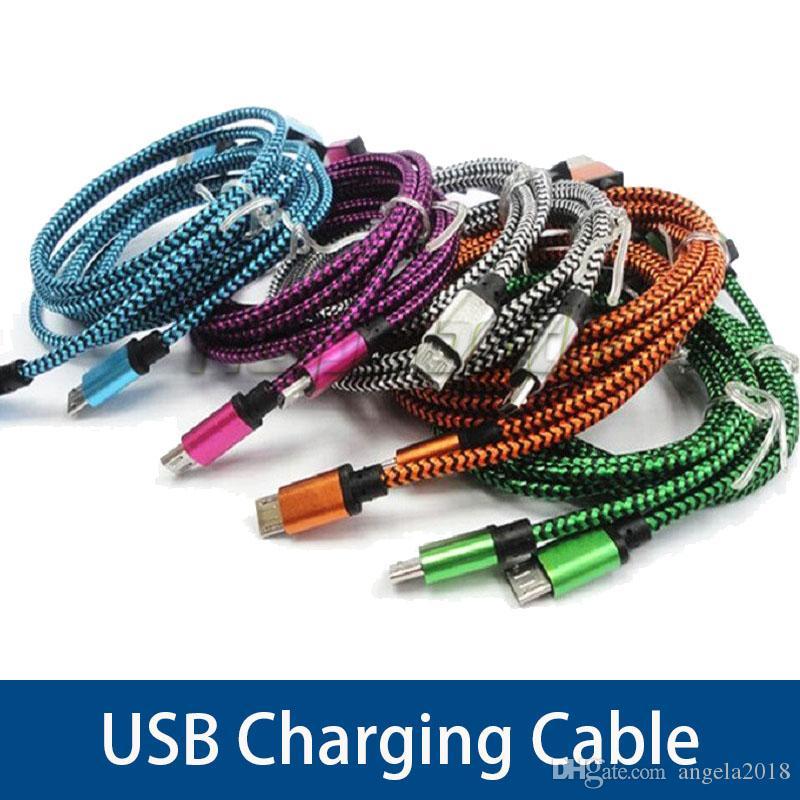 Caricabatterie V8 Micro USB Cavi Serpentine serpente intrecciato 1m 2M 3M cavi Type-C USB linea di carico per Samsung Tutti Phone 8 7