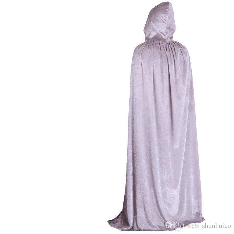 Großhandel Sorcerer Umhang Halloween Kostüm Cosplay Theater Prop Tod Hoody Wizard Robe Tod Umhang Teufel Lange Tippet Cape Kinder Erwachsene Von