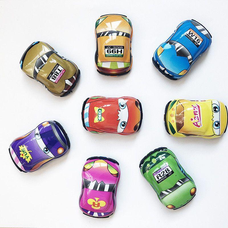 Wholesale Children Gift Car Model Mini Car Creative Cute Q Edition Sliding Mini Toys epacket free shipping