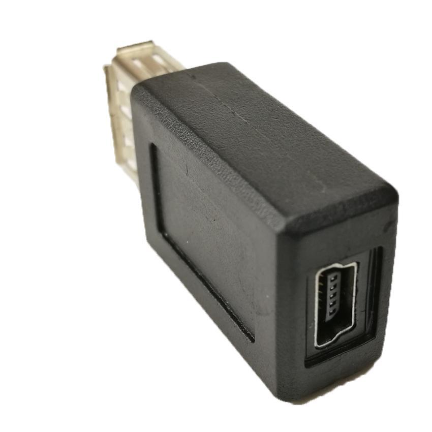 Высокая скорость USB 2.0 тип женщина к мини-USB 5pin B женский конвертер разъем зарядное устройство передачи данных синхронизации адаптер