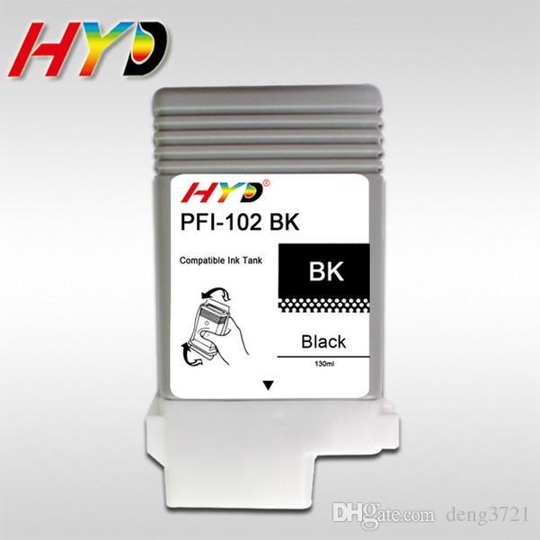 Portiere d'inchiostro compatibili PFI-102 da 6 pezzi / lotto per Canon iPF500, iPF510, iPF600, iPF610, iPF700, iPF710, iPF720, Plug and play