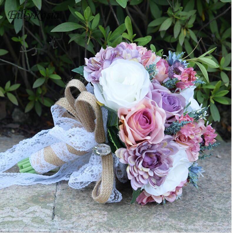 Vintage Bouquet De Mariage Fleurs Bouquet de mariée pour la mariée Custom Country Country Style Bohemian Mariage Design Ramos de Novia 2018
