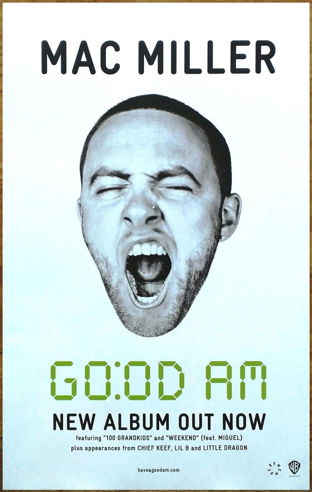 "3 inch MAC MILLER Poster Wall Print 24/"" x 36/"""