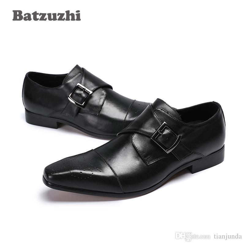 Zapatos de hombre Chaussures en cuir pour hommes Chaussures à bout pointu en cuir classique pour hommes