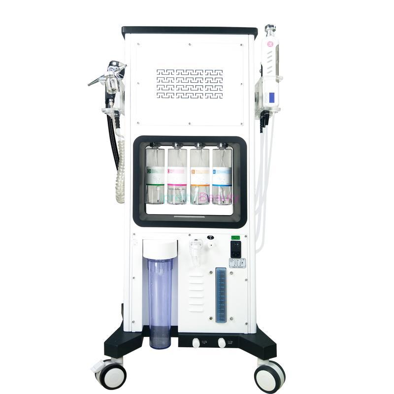 سحر زائد co2 الأكسجين rf مع آلة الوجه بالموجات فوق الصوتية 7 في 1 الأكسجين آلة المياه هيدرا الوجه الأكسجين رذاذ بندقية أدى ضوء العلاج