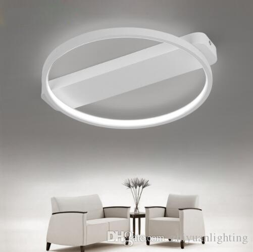 Modern LED Tavan Lambası Yuvarlak Tavan Aydınlatma Armatür Oturma Odası Yatak Odası Mutfak Lamparas Için Siyah Beyaz Vücut Işık Fikstür