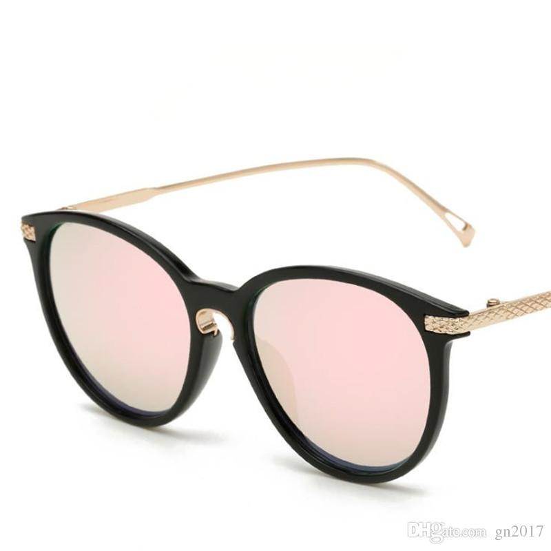 Fashion Women & Men Brand Designer Sunglasses Personality Cat Eye Sun Glasses Color Film Eyeglasses for Shopping Anti-UV Spectacles Eyewear