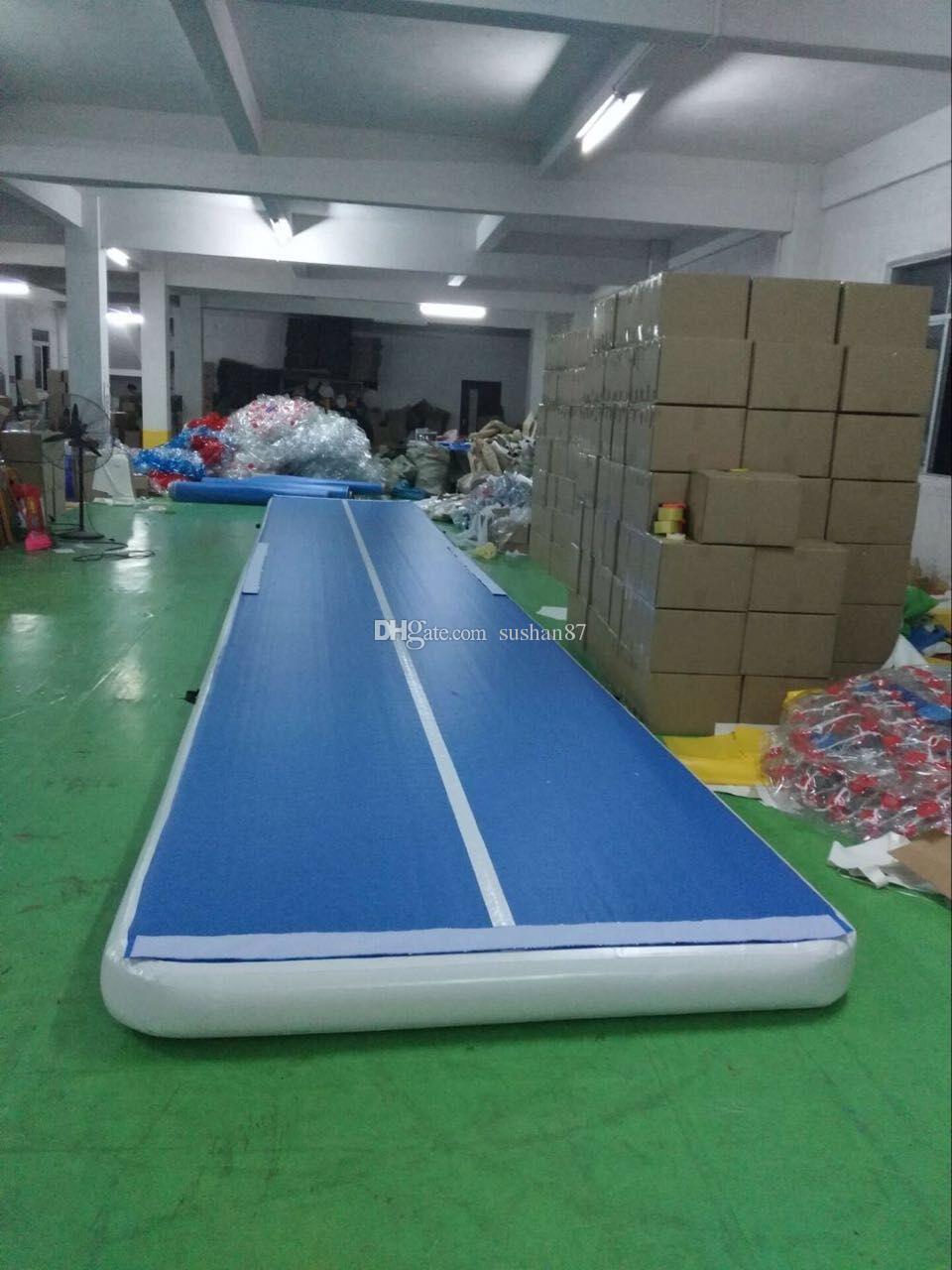Freies Verschiffen 12m Länge Inflatable Air Track Für Gym Aufblasbare Gym Air Track Trampolin Mats Aufblasbare Tumble Spur freie Pumpe