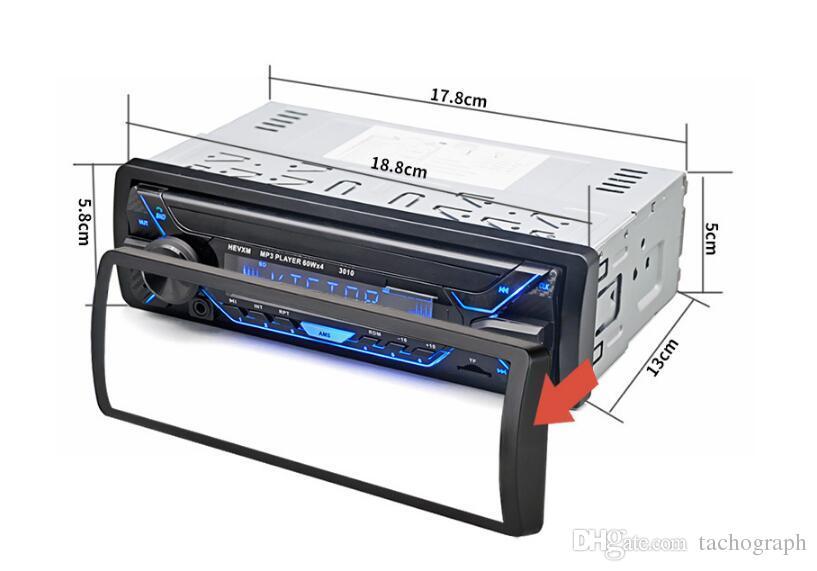 12V عالمي واحد سيارة بلوتوث مشغل MP3 بطاقة الموسيقى المضيف راديو نسخة ملونة