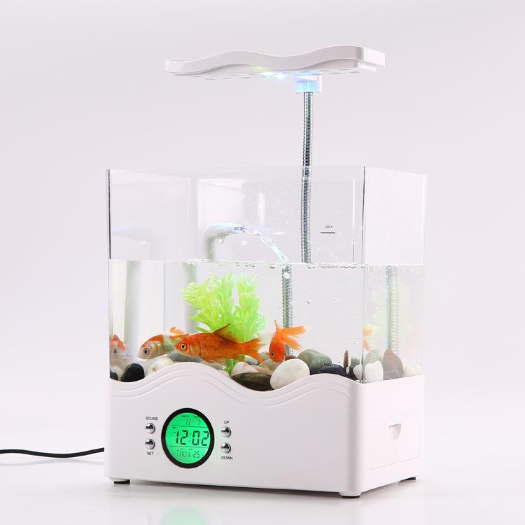 حوض للأسماك مصغرة مصباح USB حوض السمك مصغرة حوض السمك حوض السمك حوض السمك الإبداعية سطح المكتب الإبداعية