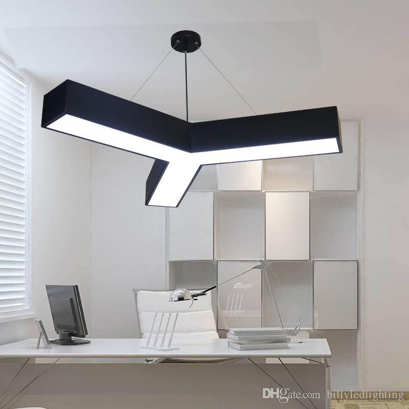Oficina moderna LED forma de Y Luces pendientes regulable Lámpara de luz colgante por la Sala de Estudio en Casa Decor DIY Forma de combinación