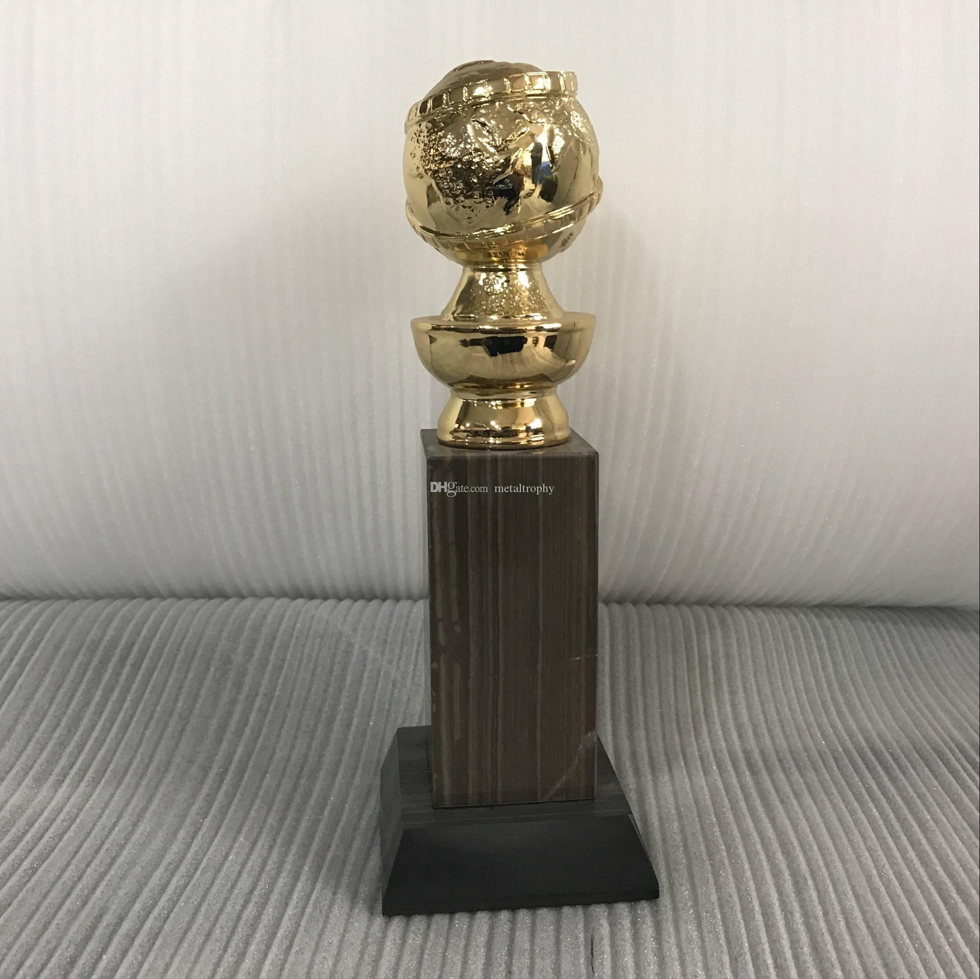 Golden Globe Award Trophy (10 Inches) with HFPA Logo Stamped In Gold-26cm high gold color good Free Shipping Golden Globe