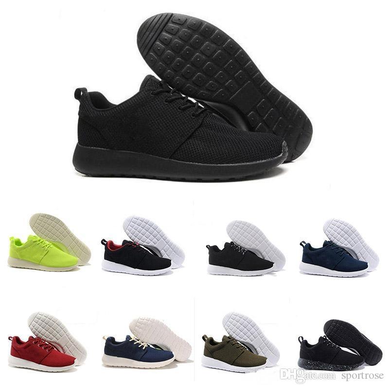 Neue Ankunft Laufen Schuhe schwarz weiß rot Männer Frauen Turnschuh London Olympic läuft ruche Herren Turnschuhe Laufschuh Sport uns 5.5-11 Nike ROSHE RUN ROSHERUN