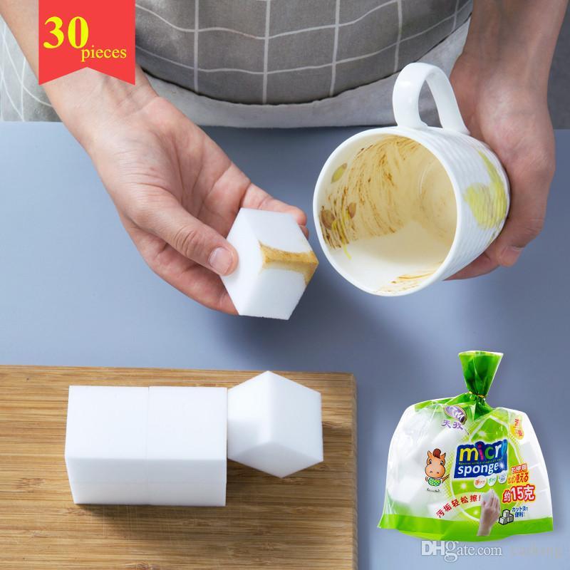 Nano-esponja de limpeza limpe 30 ferramentas de descontaminação da cozinha peças de esponja lavar pratos toalhetes de esponja mágicos