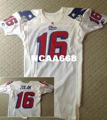 Homens Futebol Jersey Scott Zolak Equipe emitida White Jerseys Tamanho S-XXXL Personalizado Qualquer nome ou número
