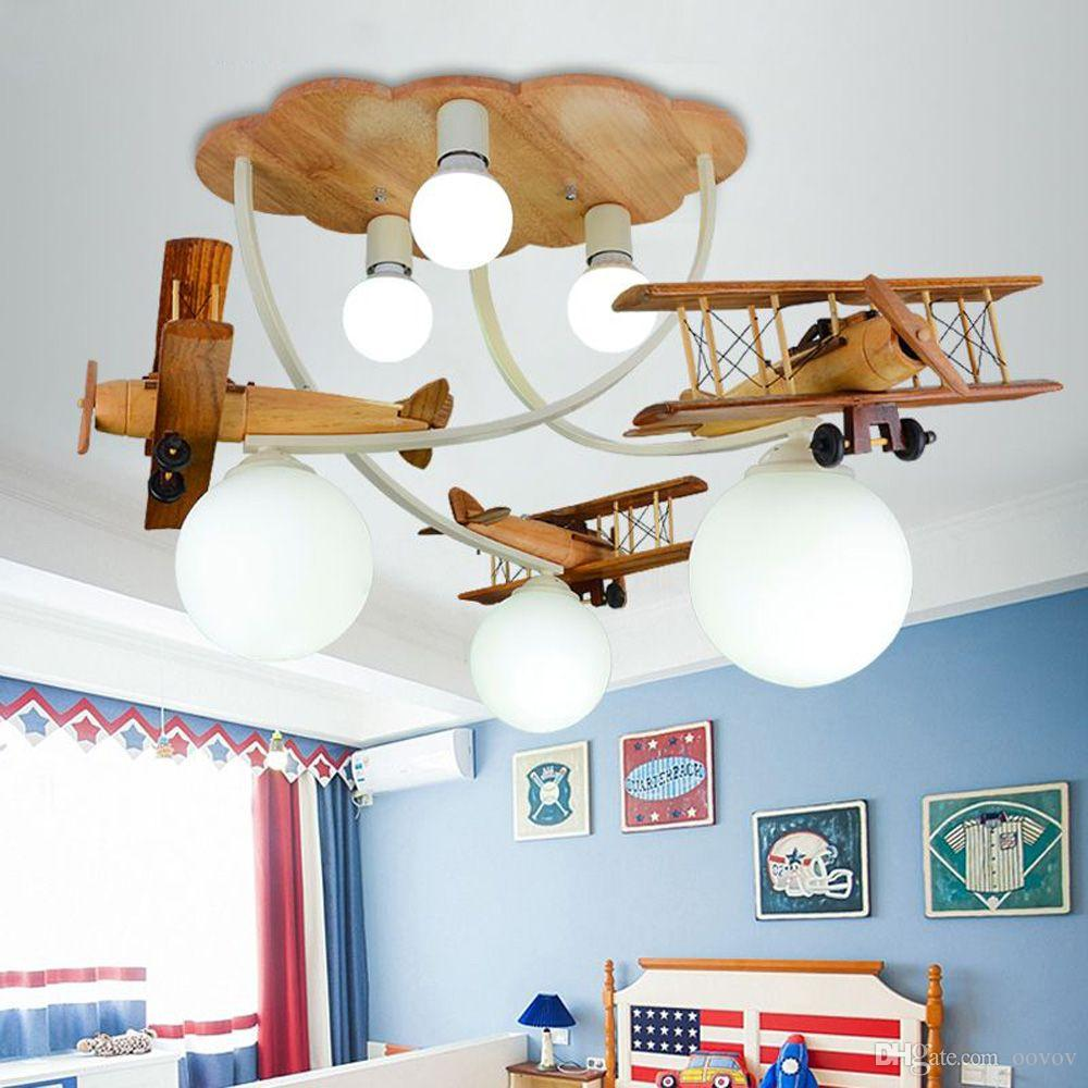 Grosshandel Cartoon Holz Flugzeug Deckenleuchten Kreative Kinderzimmer Baby Zimmer Deckenleuchte Jungen Zimmer Schlafzimmer Deckenleuchte Von Oovov 252 85 Auf De Dhgate Com Dhgate