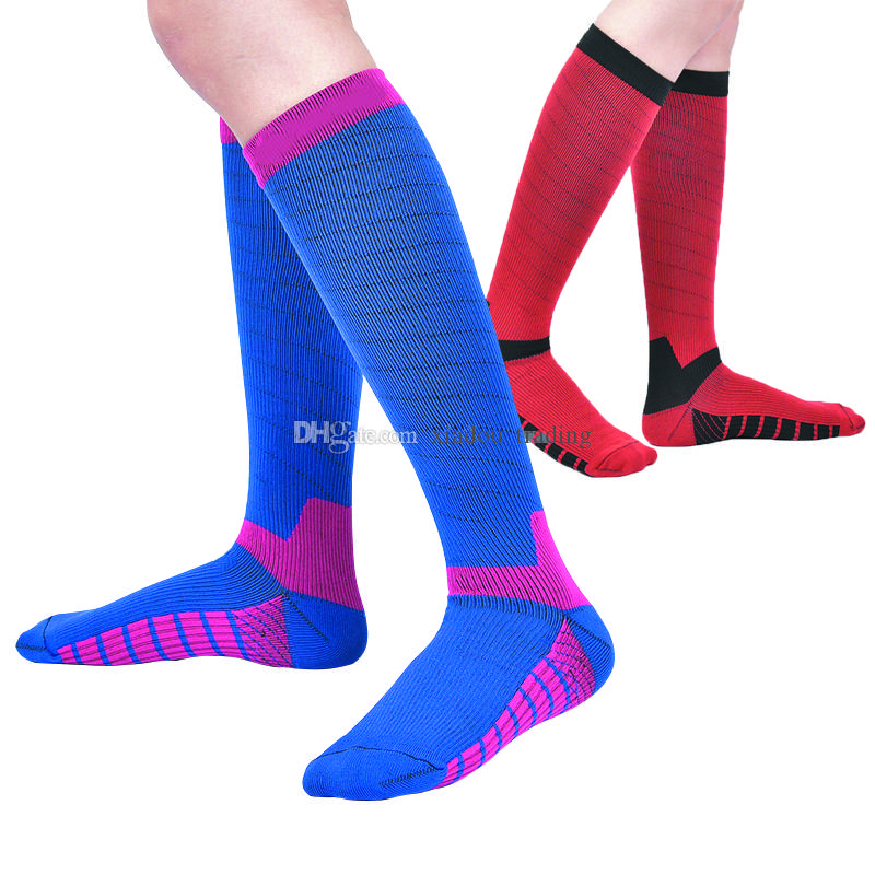 Grade II Compression Stretch Stockings Men Women Long Tube Nylon Soccer Socks Breathable Sports Socks Tennis Football Socks Trade Price