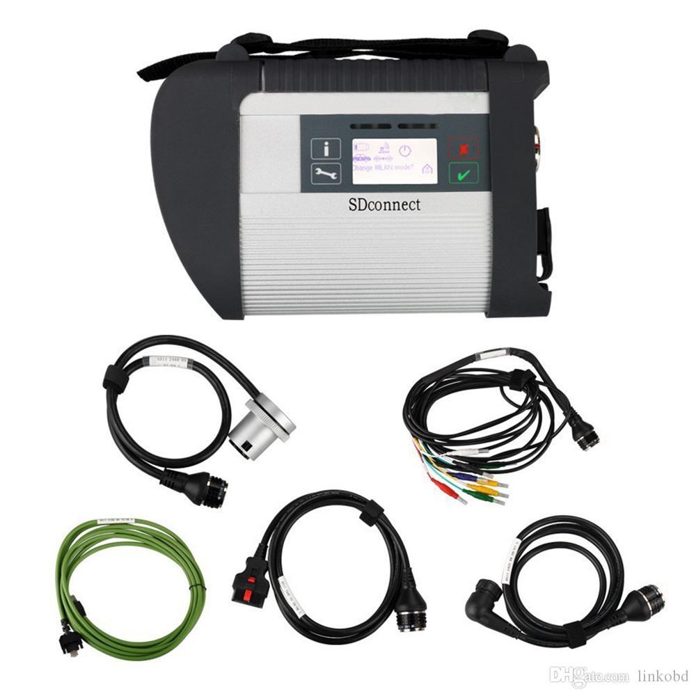 Full Chip PCB MB Estrela C4 SD Conectar Star Ferramenta de Diagnóstico Multiplexador Para Mercedes Benz Car Truck sem Software HDD
