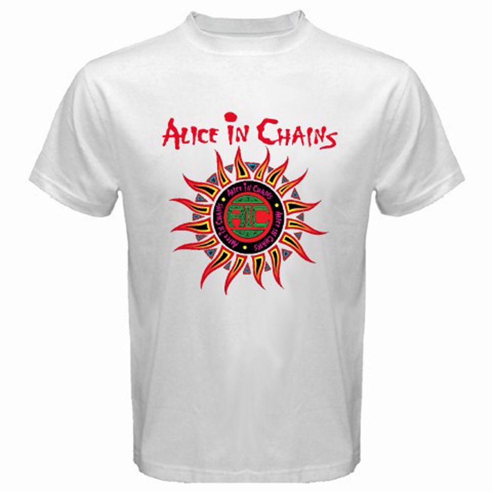 New Alice In Chains Sun Logo Rock Band Men/'s White T-Shirt S M L XL 2XL 3XL