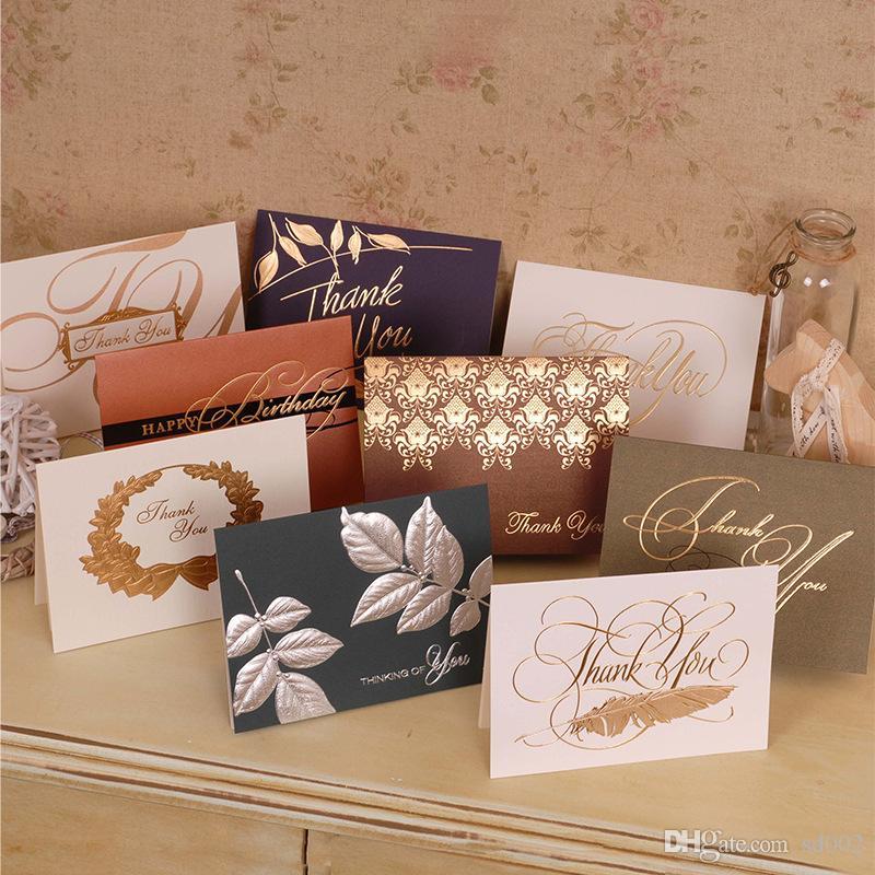 Couleur Bronzage Merci Cartes de vœux Partenaires de la meilleure qualité Business Clients Invités Joyeux anniversaire Invitations de fête de la carte 1 32yh bb
