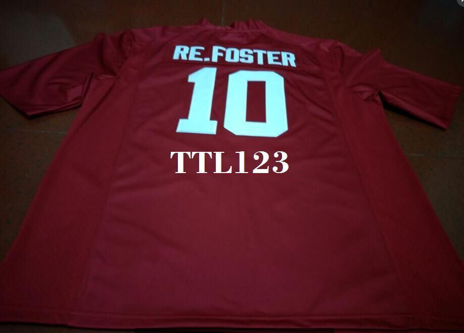 Hommes # 10 Reuben Foster Alabama Crimson Tide maillot universitaire noir ou blanc