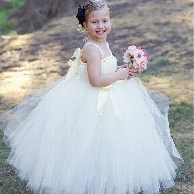 Charming Tulle Flower Girl Abiti Ball Gown Pincess Pageant Bambini Wedding Party Dress Bambini Dress vestito speciale occasione GHTZ68