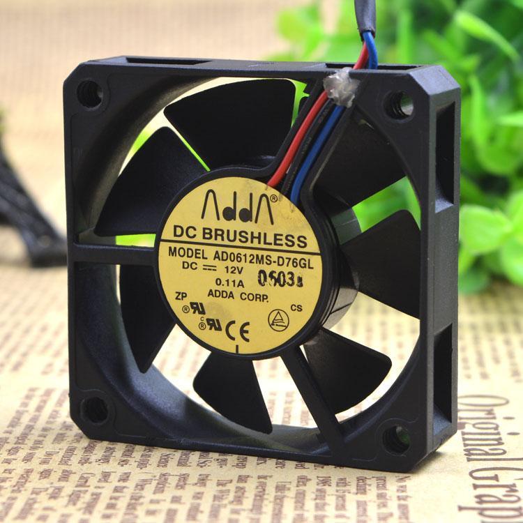 Для ADDA Xiexi 6015 12 В 0.11A 6 см вентилятор охлаждения корпуса AD0612MS-D76GL