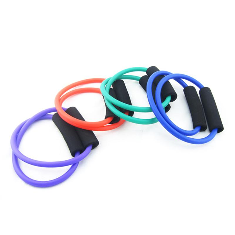 1 pcs Yoga Puxar Corda O tipo de Esportes Bandas de Resistência de Fitness Tubos de Exercício Treinamento Prático Elastic Band Yoga Cordas de Treino