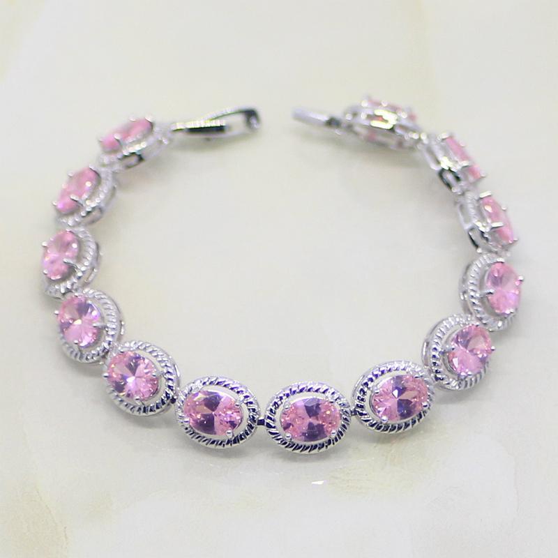 Set di gioielli in argento sterling 925 a forma di fiore in zirconi bianchi CZ 925 per orecchini da donna / pendente / collana / bracciale