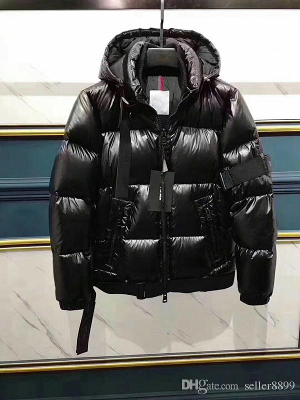 2020 nouvelle officiel des hommes marque de productt hiver vers le bas épaississement manteau de duvet parkas à capuchon hommes lumineux vers le bas veste couleur noire
