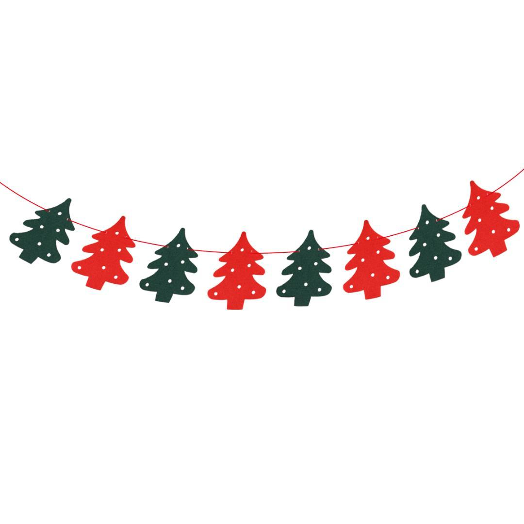 Christmas Banners.2 5 Meters Christmas Banners Christmas Tree Shape Bunting Garland Hanging Decoration Xmas Tree Ornaments Pendants Glass Christmas Ornaments Good