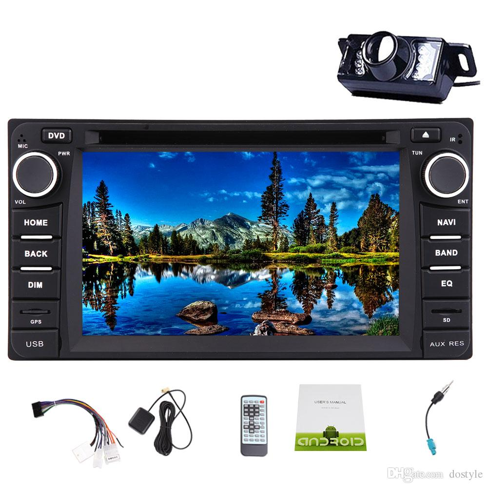 Backup Camera+In Dash Car Stereo for TOYOTA Corolla EX(2008~2013)Android 6.0 Quad Core Double Din Car DVD Player 6.2'' Capacitive