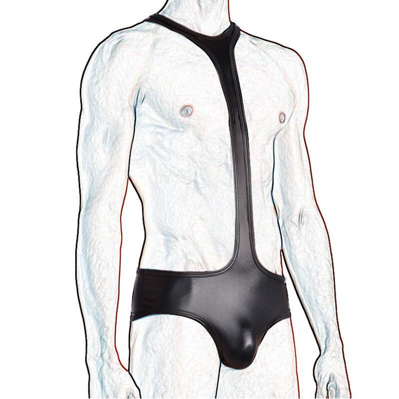 Men Teddy Lingerie Body intimo per uomo sexy in intimo perizoma in pelle per uomo