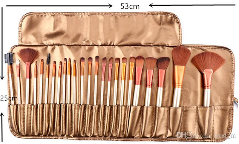 24 logs of wool fiber makeup brush set Portable 24pcs makeup brushes with brush bag DHL free shipping