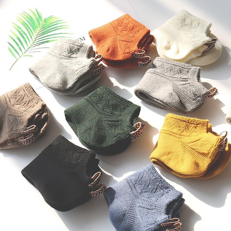 Men Socks Knitted 5 Pairs Cotton Print Short Invisible Socks New Spring National Style High Quality Men 'S Socks