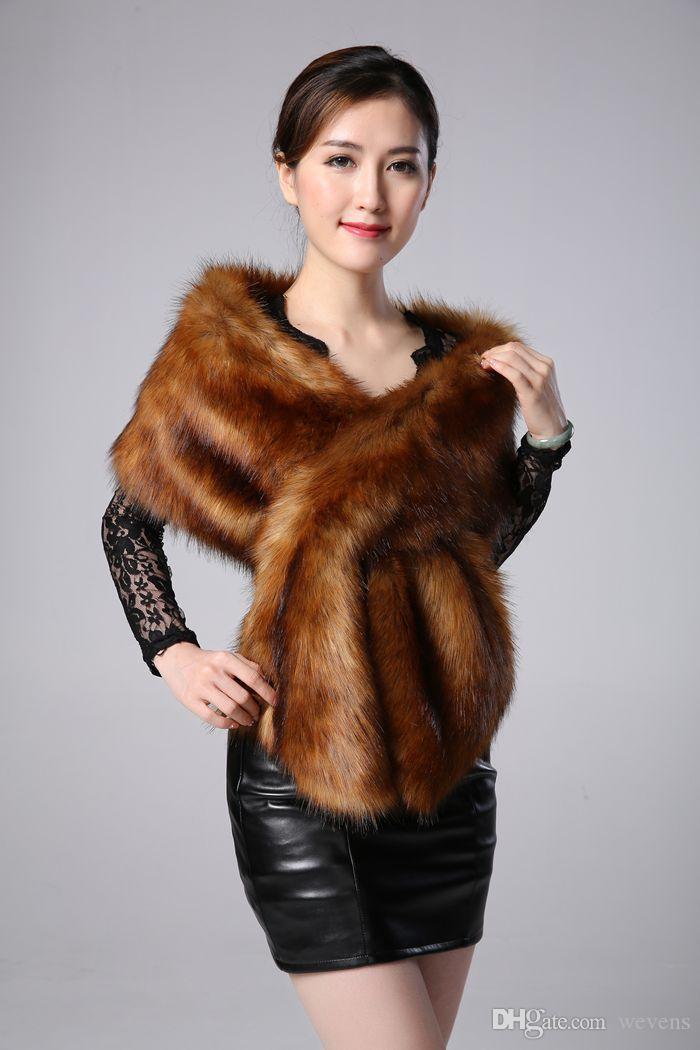 겨울 웨딩 코트 Bridal Faux Fur Wrap Warm Stick shawls 겉옷 Black Gary White 어깨 걸이 Women Jacket Prom Evening