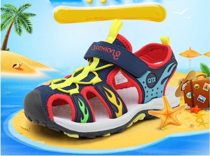 Playa Verano Punta De Deporte Marca Ortopédicas Zapatos Sandalias Niño Bebé Cerrada Para Niños Compre Childern Pequeños H9EDI2