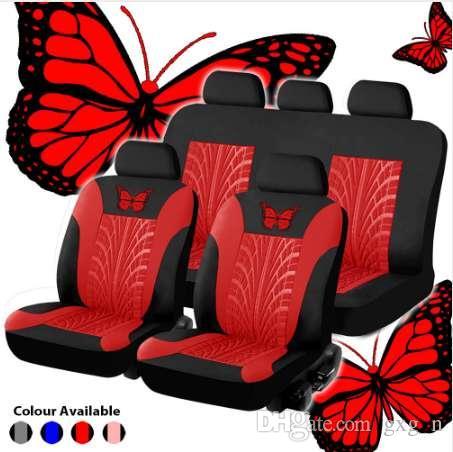 عالمي تصميم الأزياء مجموعة كاملة فراشة مقعد السيارة حامية اكسسوارات السيارات الداخلية السيارات غطاء مقعد السيارة