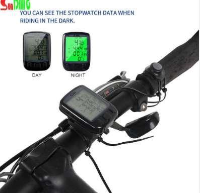 2018 Hot SD 563B водонепроницаемый ЖК-дисплей CyclingBicycle компьютер одометр спидометр с зеленой подсветкой