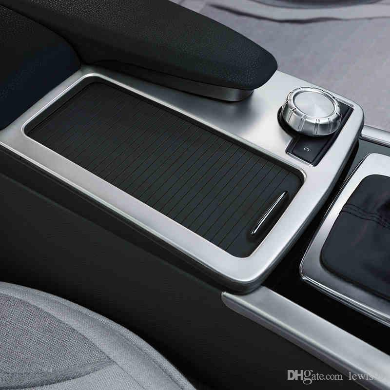 Console de Estilo de carro de Engrenagem Shift Suporte de Copo de Água Decoração Do Painel Guarnição Para Mercedes Benz Classe C E W204 W212 Coupe W207 C207 Auto Acessórios
