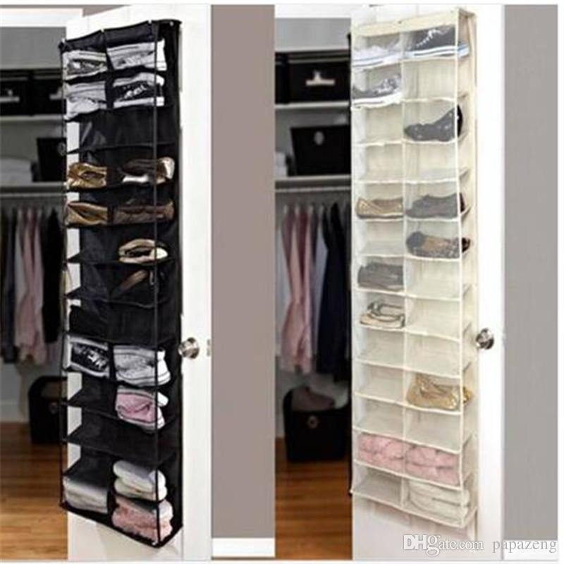 Free shipping Shoe Rack Storage Organizer Holder Folding Hanging Door Closet 26 Pocket living room furniture shoe rack shoe cabinet