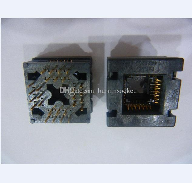 Wells-CTI LCC28P IC Testi Socket635-0282112 Soket Yanık 1.27mmm