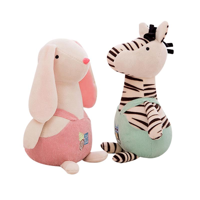 25cm Cute Animals Plush Toys For Children Hallowmas Christmas Gift Soft Stuffed Appease Decor Baby Bed Pillow Toy