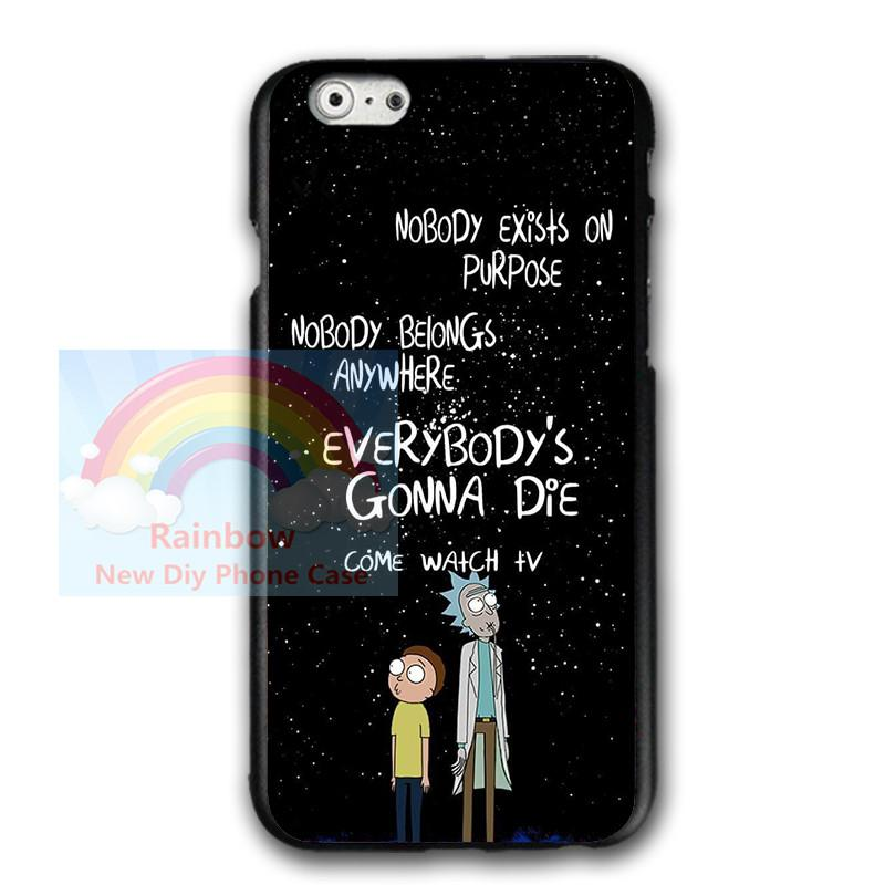 buy popular 864ed 18c90 Anime Rick And Morty For Iphone 6 6s 8 8plus Case, Rick And Morty For  Samsung S7 S8 Plus Hard Plastics Phone Protective Case Jeweled Cell Phone  Cases ...