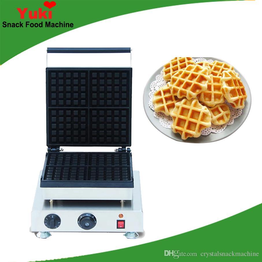 Belçika Waffle Yapma Makinesi NP699 Tayvan Damalı Derin Izgara 4 adet Waffle Kek Makinesi Makinesi Ticari Kare Waffle Makinesi