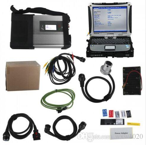 DHL free shiping V2018.9 MB SD C5 Connect Compact 5 Star Diagnosis Plus For Panasonic CF19 I5 4GB Laptop Software Installed Ready to Use