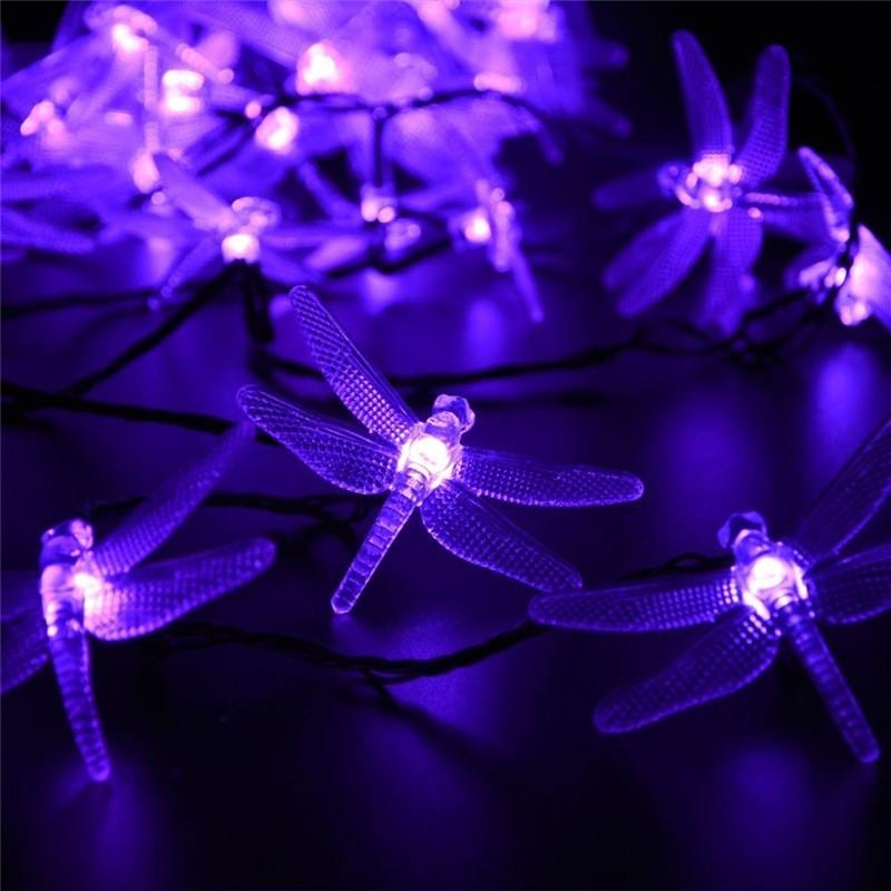 lederTEK Christmas Solar String Lights 19.7ft 6m 30 LED (2)