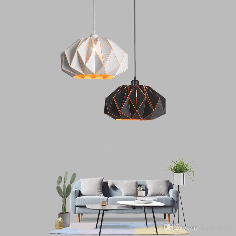 Sencillo Diseño Moderno Colgante de Luz Nordic Luxury Art Comedor Lámpara Dormitorio Bar LED Lustre Decoración de Metal Colgante Lámpara