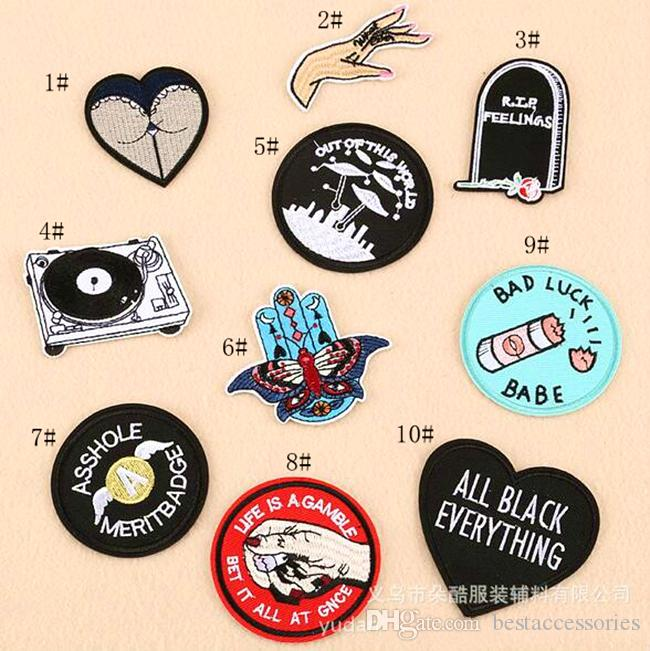 Biker Babe Don't Press Your Luck Embroidered Biker Patch FREE SHIP